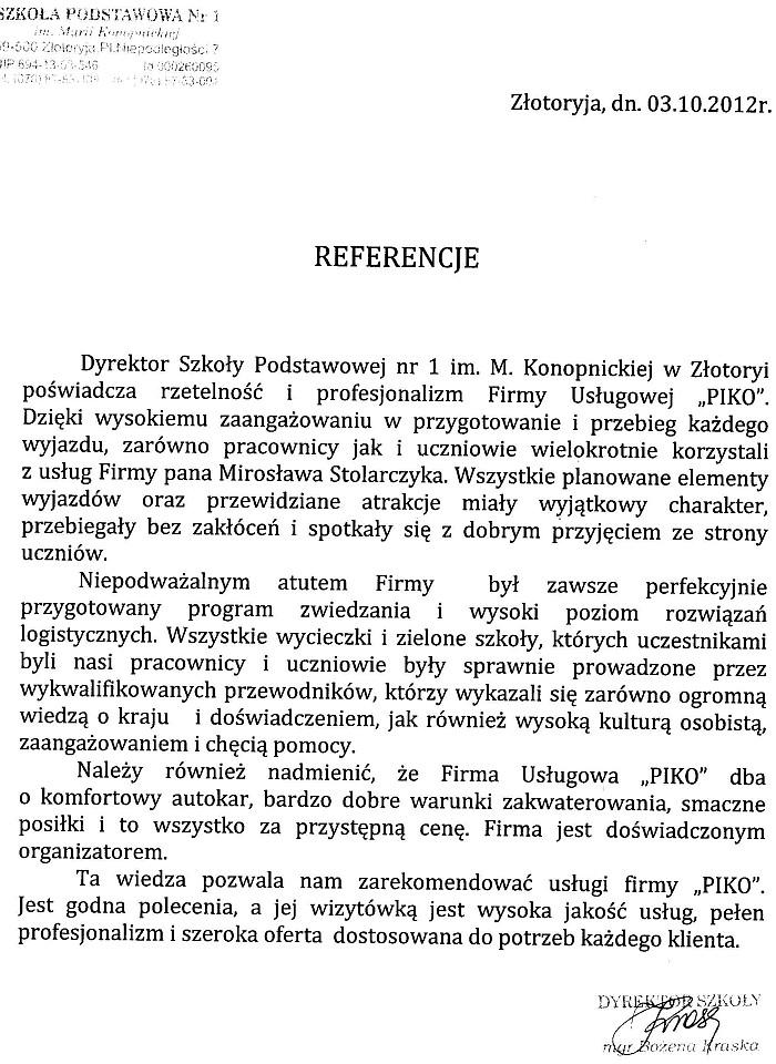 Szkoła Podstawowa nr 1 im. Marii Konopnickiej w Złotoryi