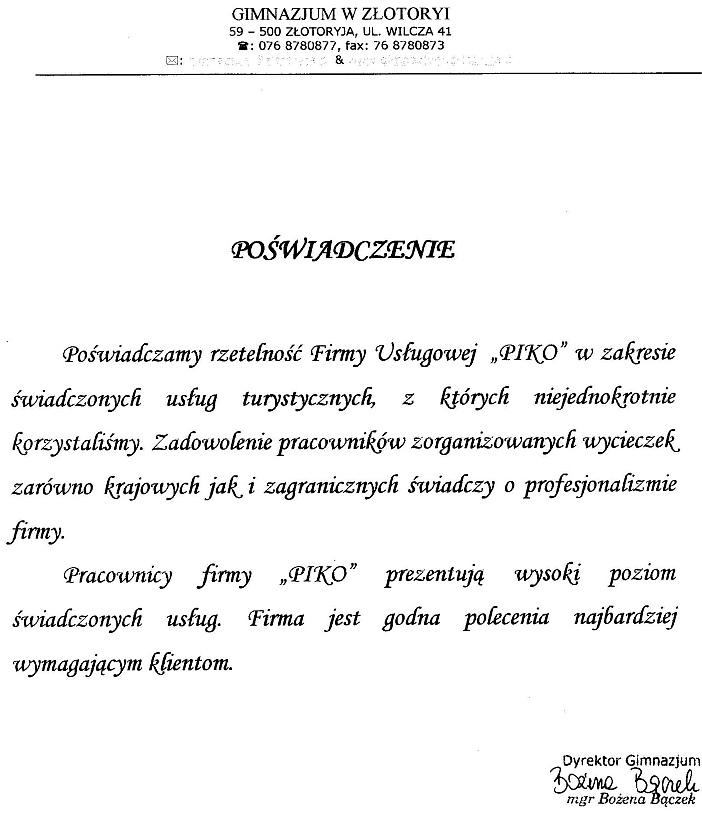 Gimnazjum w Złotoryi