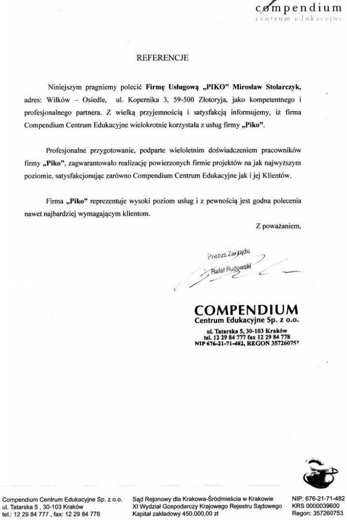 Compendium Centrum Edukacyjne sp. z o.o. z Krakowa
