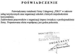 Firma Bazalt-Nitron sp. z o.o. z Wilkowa
