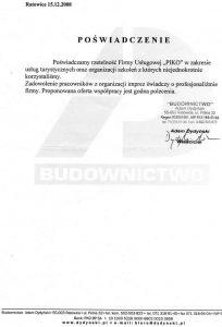 """Firma """"Budownictwo"""" z Ratowic"""