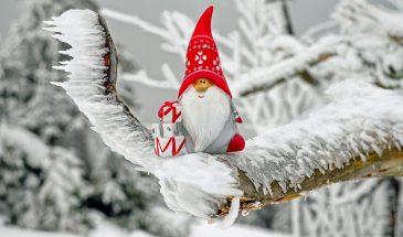 Mikołaj na zamarzniętym drzewie
